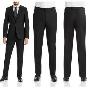 🏷 NWT 1670 SLIM FIT BLACK SUIT PANTS 36X32